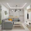 дизайн интерьера гостиной, интерьер в экостиле, зона тв, дизайн гостиной в современном стиле, корпусная мебель в интерьере.