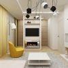"""дизайн интерьера гостиной, гостиная в современном стиле, настенные часы в интерьере, люстра системы """"паук"""", дизайн зоны тв, камин в интерьере, камин в гостиной"""