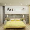 дизайн интерьера спальни, интерьер спальной комнаты, корпусная мебель в интерьере, декоративная штукатурка в интерьере, спальня в современном стиле
