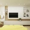 дизайн интерьера спальни, интерьер спальной комнаты, корпусная мебель в интерьере, декоративная штукатурка в интерьере, спальня в современном стиле, туалетный стол в спальне