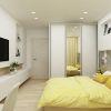 дизайн интерьера спальни, интерьер спальной комнаты, корпусная мебель в интерьере, декоративная штукатурка в интерьере, спальня в современном стиле, туалетный стол в спальне, шкаф-купе