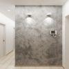 дизайн интерьера коридора, современный интерьер коридора, корпусная мебель в интерьере, декоративная штукатурка в интерьере