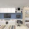 дизайн интерьера гостиной, дизайн зоны тв, корпусная мебель в гостиную, интерьер гостиной в современном стиле, декоративный кирпич.