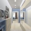 дизайн интерьера коридора, дизайн прихожей, шкаф-купе в интерьере, дизайн корпусной мебели.