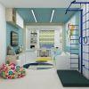 дизайн интерьера детской комнаты, дизайн детской для мальчика, интерьер детской в современном стиле, зонирование в детской.