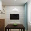 дизайн кухни-гостиной, дизайн интерьера кухни, интерьер кухни в современном стиле, интерьер гостиной в современном стиле, декоративный кирпич в интерьере