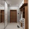 дизайн интерьера коридора, интерьер коридора, корпусная мебель в интерьере