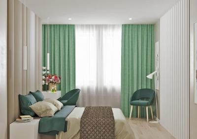интерьер спальни, проект спальни, дизайн интерьера спальни, спальная комната в современном стиле, детская зона в спальне.