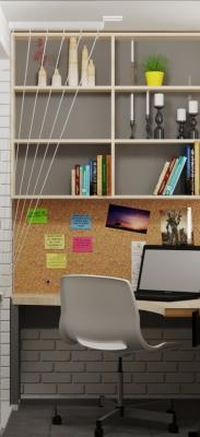 дизайн лоджии, интерье лоджии, проект лоджии, рабочая зона на лоджии, зона рабочего стола.