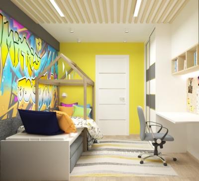 интерьер детской, дизайн детской, проект детской,современный дизайн интерьера детской, интерьер в современном стиле, дизайн-проект детской, дизайн детской комнаты, комната для мальчика, детская для 2 мальчиков, проект детской для мальчиков, фотопечать в интерьере, рабочая зона в детской, шкаф-купе в детской.