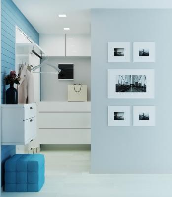 интерьер коридора, дизайн зоны коридора, проект коридора, декоративный кирпич в коридоре, проект корпусной мебели для коридора