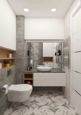интерьер ванной, дизайн ванной, проект ванной комнаты, дизайн-проект ванной, проект санузла, душевая кабина в ванне.