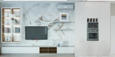 дизайн интерьера гостиной, интерьер гостиной, дизайн кухни-гостиной, объединенная кухня-гостиная, зона тв, дизайн зоны тв, интерьер гостиной в стиле современная классика