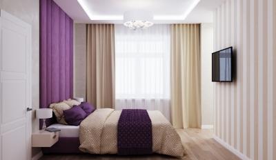 интерьер спальни, дизайн спальни, проект спальной комнаты, спальня в стиле современная классика