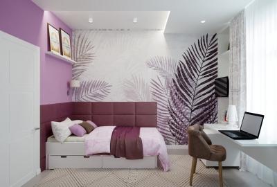 дизайн детской, интерьер детской, детская комната, комната для девочки, дизайн комнаты для девочки, интерьер детской комнаты