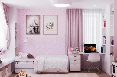 дизайн детской, дизайн интерьера детской, интерьер детской, детская в современном стиле, дизайн-проект детской, дизайн детской комнаты, детская для девочки, комната девочки, дизайн детской для девочки