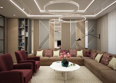 дизайн интерьера гостиной, зона тв, корпусная мебель под заказ, интерьер гостиной, современный дизайн интерьера, стеновые панели в интерьере