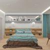 Дизайн интерьера спальной в современном стиле.