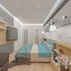 Современный дизайн интерьера в спальне.