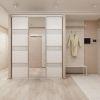 дизайн интерьера коридора, интерьер коридора, коридор в современном стиле, шкаф-купе в интерьере