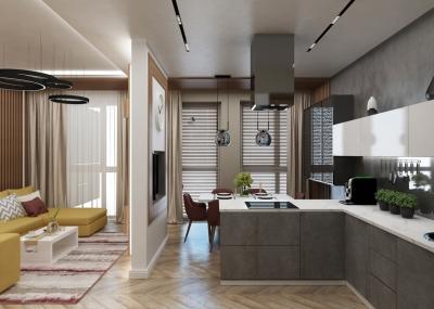 дизайн кухни, дизайн интерьера кухни, интерьер кухни, кухня в современном стиле, дизайн-проект кухни.