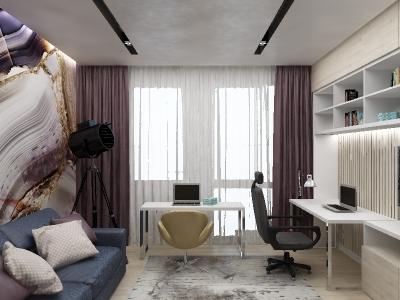 дизайн интерьера кабинета, дизайн кабинета, интерьер кабинета, дизайн-проект кабинета, интерьер рабочего кабинета, кабинет в современном стиле.