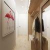 дизайн интерьера коридора, интерьер коридора, корпусная мебель в интерьере, дизайн интерьера однокомнатной квартиры.