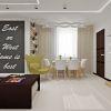 дизайн интерьера столовой зоны, подвесные светильники в интерьере, грифельная доска в интерьере
