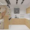 дизайн интерьера кухни, зонирование пространства при помощи барной стойки, дизайн-проект кухни