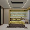 современная спальня, дизайн-проект спальни, фотопечать в интерьере