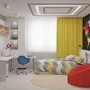 дизайн интерьера детской в современном стиле, дизайн комнаты для подростка, зона отдыха в детской