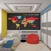 дизайн-проект комнаты для мальчика, фотопечать в интерьере, географическая карта в интерьере детской