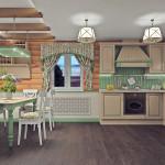"""Дизайн деревянного дома в стиле прованс  """"Тепло очага"""""""