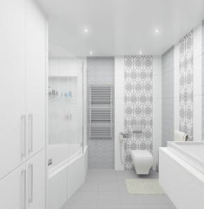 """дизайн интерьера ванной комнаты """"Оттенки белого"""""""